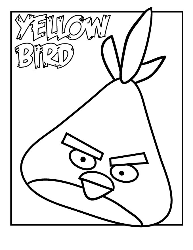 Angry Birds Free Coloring Pages