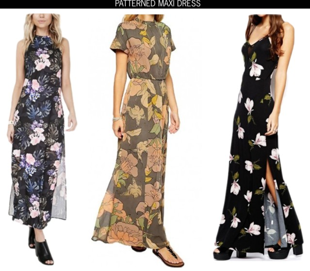 patterned maxi dresses