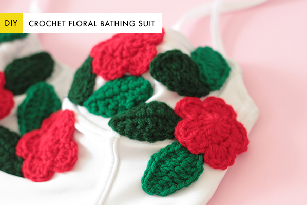 DIY Floral Crochet Bathing Suit