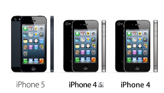 iPhone 5 vs. iPhone 4S vs. iPhone 4 - Information ...