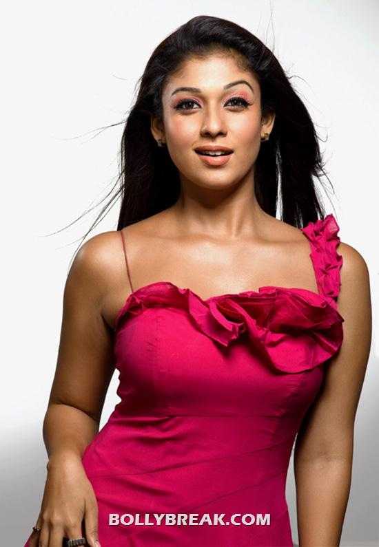 Nayanthara in red dress - (2) - Nayanthara Hot Pics