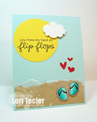 Flip Flops card-designed by Lori Tecler/Inking Aloud-stamps from Paper Smooches