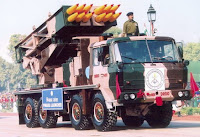 Pinaka Multi Barrel Rocket Launcher