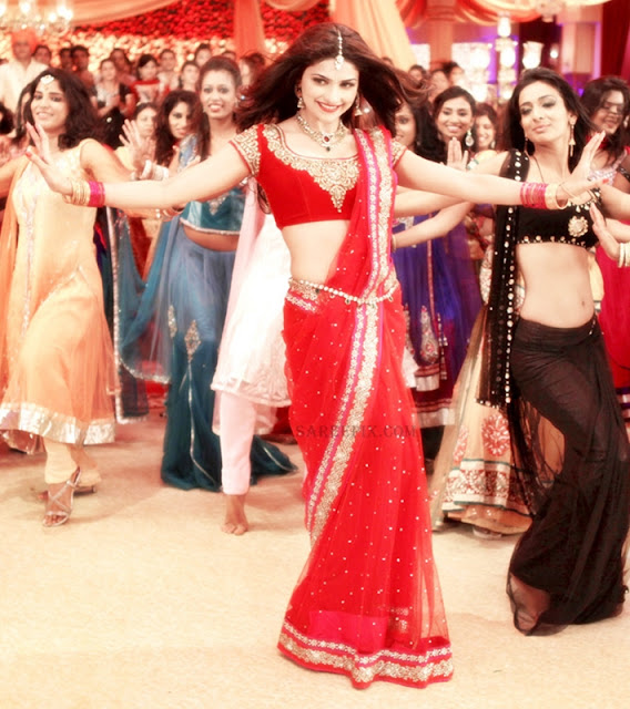 Prachi desai in lehenga style saree from Policegiri movie