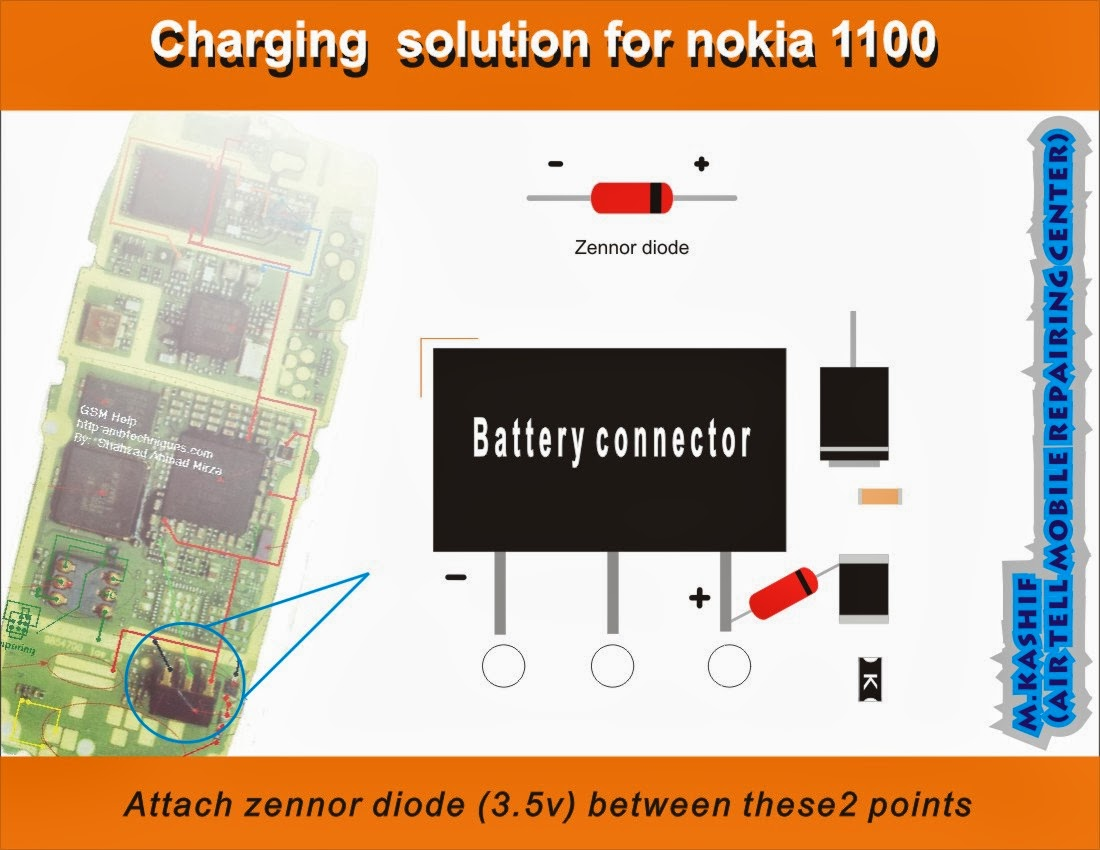 NOKIA 1100 NOT CHARGING  MOBILE SOLUTION PICTURE HELP