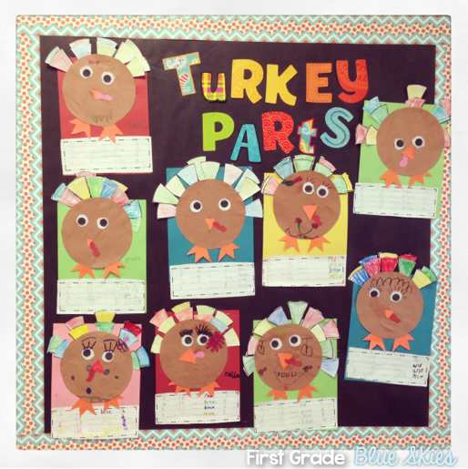First grade blue skies pilgrim craft and my week in review for Turkey crafts for first grade