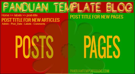 Perbedaan Artikel (Post) dan Halaman (Laman) Blog