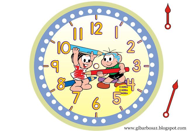 Relógios para Imprimir Turma da Mônica