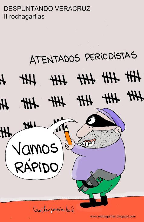 Inseguridad en Veracruz para periodistas.