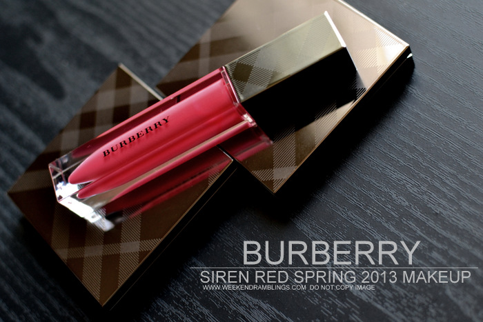 Burberry Spring Summer 2013 Makeup Collection Siren Red Swatches Photos Indian Beauty Blog