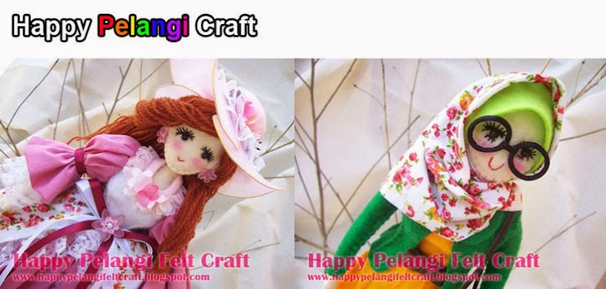 Happy Pelangi Felt Craft