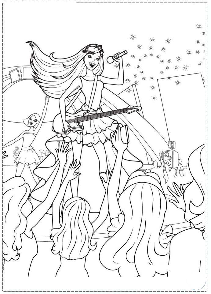 Malvorlagen Barbie Prinzessin Und Der Popstar | My blog