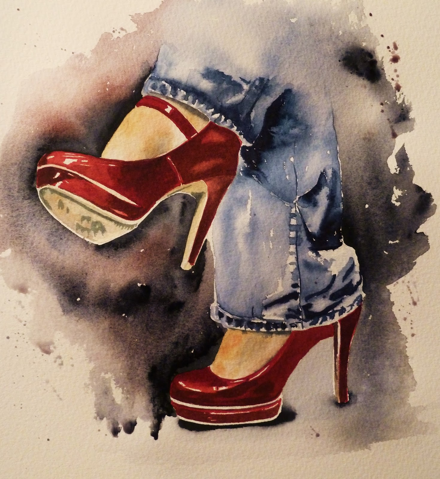 Art by Judith Farnworth: The Red Shoes