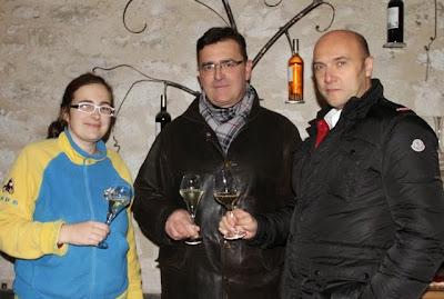 Aurélie y Jean Marc Balaran con Esteban Capdevila en Domaine d´Escausses