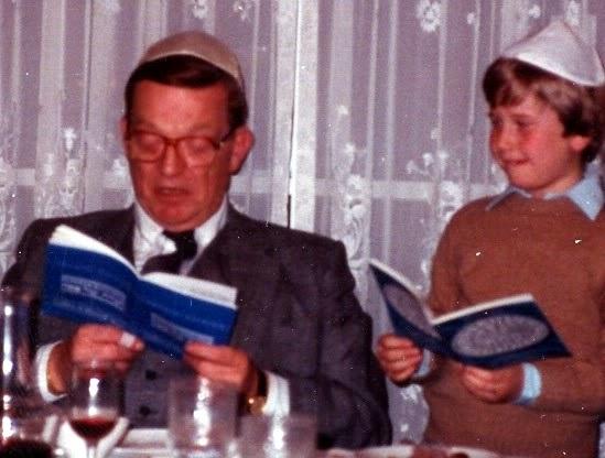 Rabbi Jason Miller and Papa, Dr. David Gudes