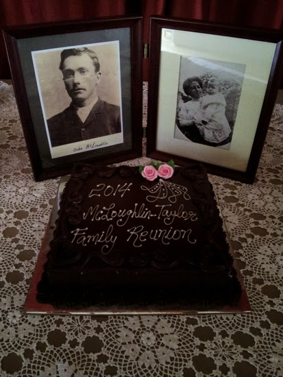 Photos of John and Margaret McLoughlin with cake