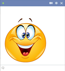 Facebook smiley for good mood