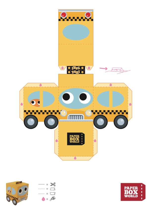 Как сделать игрушечную машину из бумаги своими руками