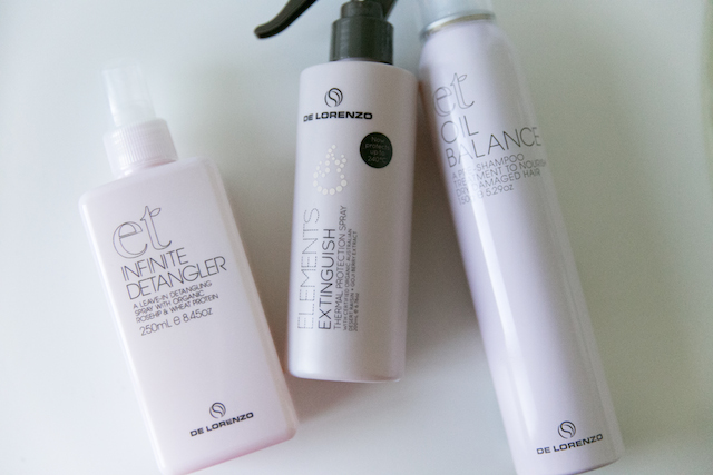 De Lorenzo vegan hair care products review. Easy way to detangler frizzy hair & manage flyway hair.