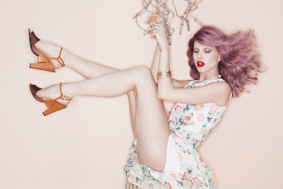pin-up photography, purple hair, fashion and beauty photographer nyc