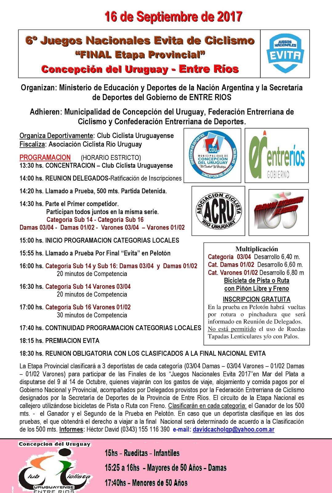 Juegos Evita - 16/09