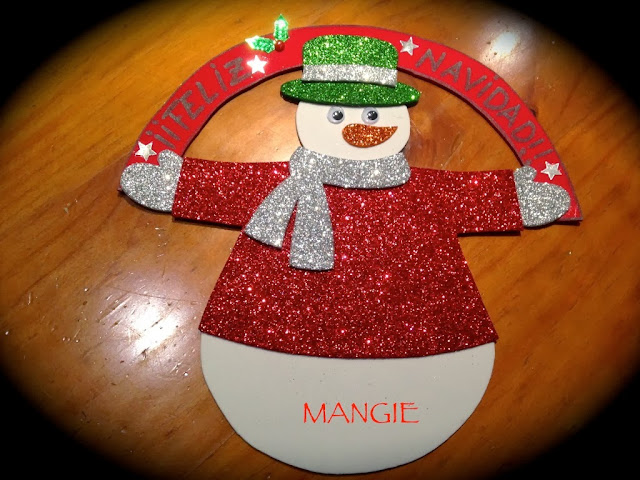 Felicitación navideña muñeco de nieve
