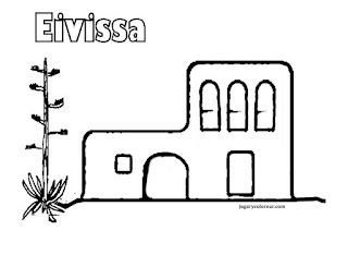 Dibujos para colorear de Ibiza