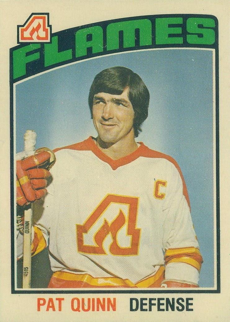 pat quinn atlanta flames 1976-77 o-pee-chee hockey card