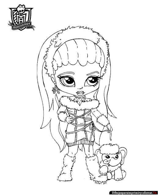 Dibujos Monster High para Imprimir y Colorear