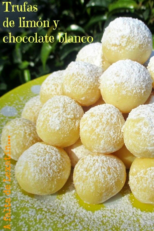 Baño Blanco De Limon:250 gr de chocolate blanco 80 gr de nata de montar 75 gr de