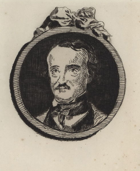 Édouard Manet 1832-1883 | Portrait of Edgar Allan Poe