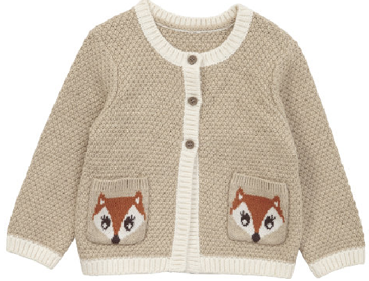 mamasVIB | V. I. BABY: The cutest little fox motif cardigan for girls, Mothercare | Fox Cardigan| V.I.Baby | baby fashion | mamasVIB