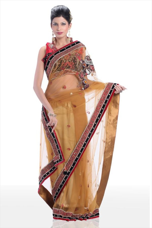 Amber Net Saree