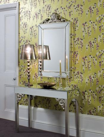 Antique homes and lifestyle: wallpaper wednesday   foyer and ...