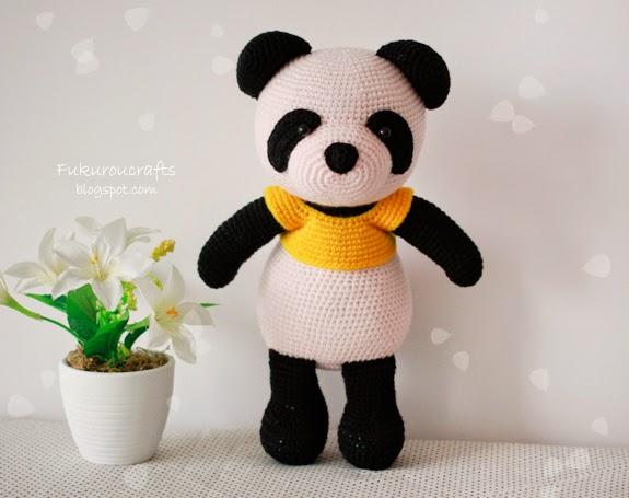 Fukuroucrafts Cute Crochet Pattern Panda Bear Doll Cute