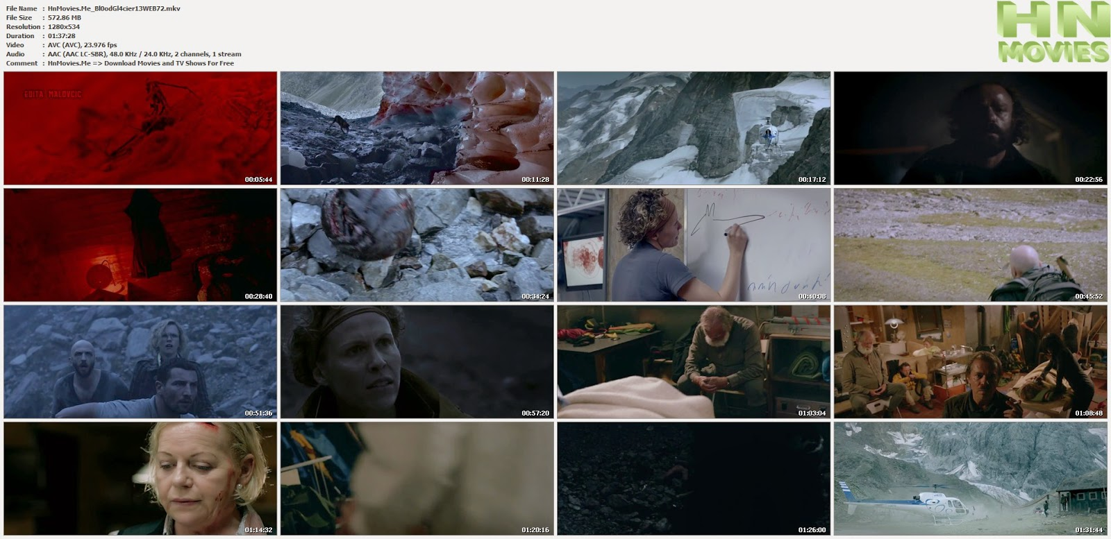 movie screenshot of Blood Glacier fdmovie.com