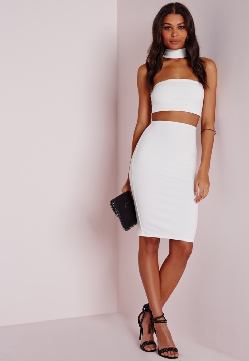 https://www.missguided.co.uk/dresses/cut-out-dresses/neck-band-bardot-midi-dress-white#