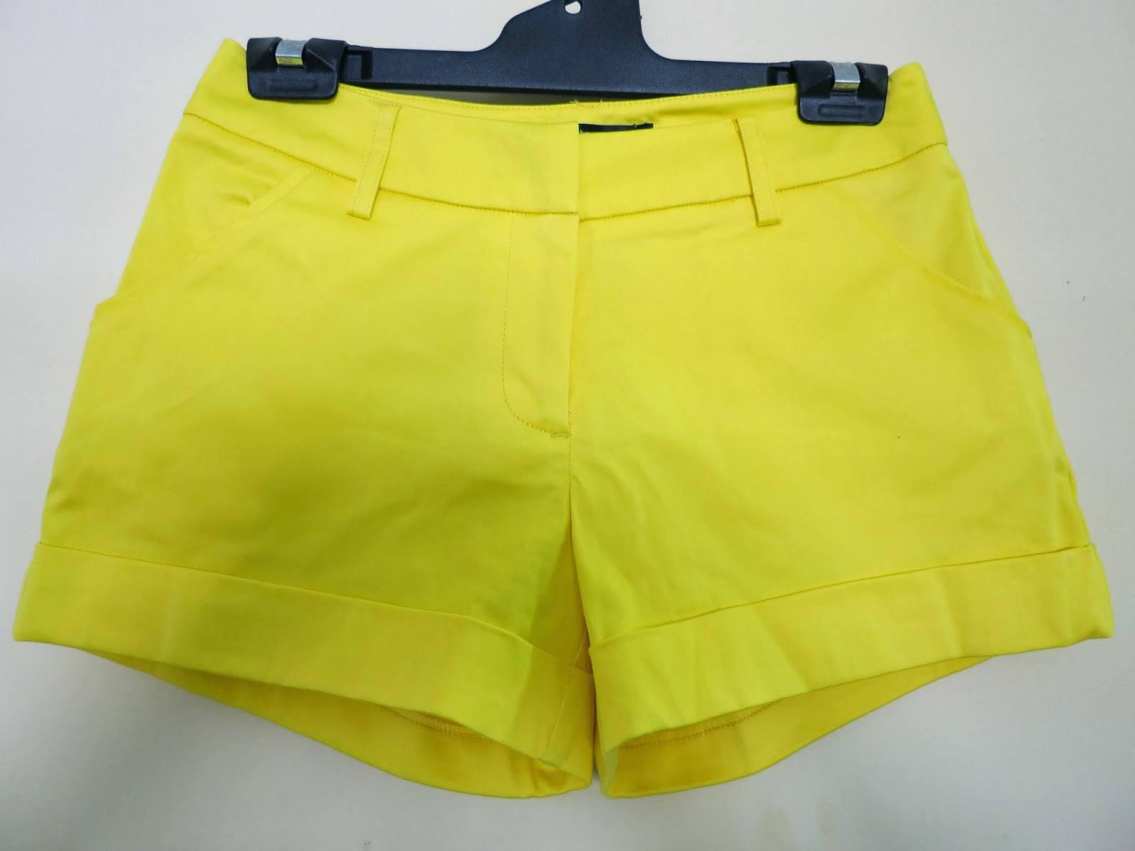 bright yellow shorts, fashion haul