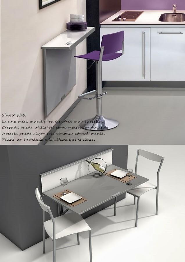 Mesas plegables o abatibles para la cocina decoraci n for Mesas para cocinas estrechas