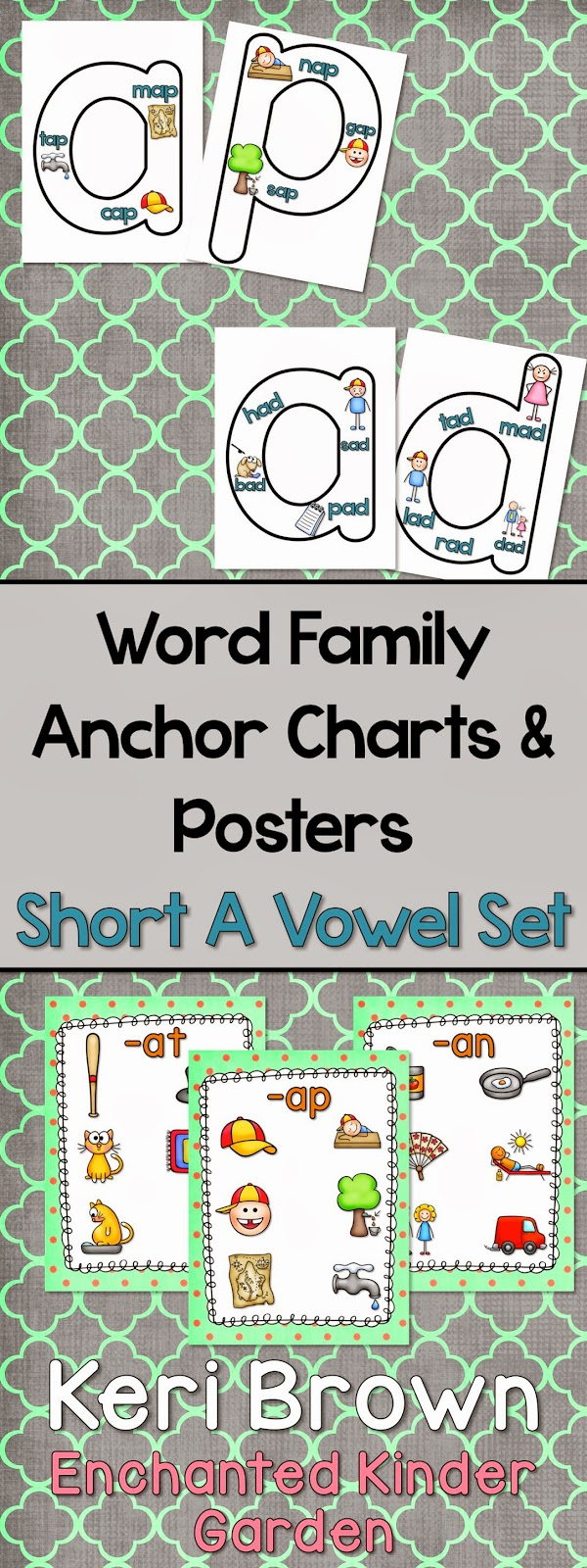 http://www.teacherspayteachers.com/Product/Word-Family-Anchor-Charts-and-Poster-Short-A-Vowel-Set-1278190