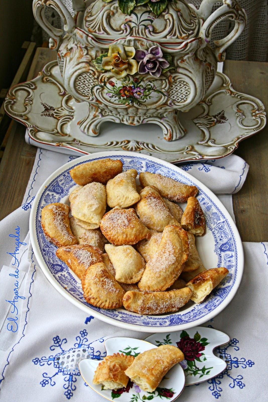 Empanadillas rellenas de bizcocho, empanadillas dulces