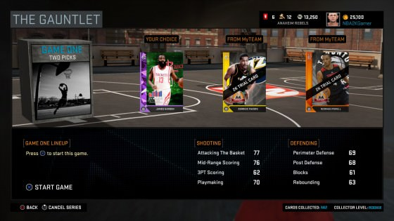 NBA 2k16 MyTeam The Gauntlet