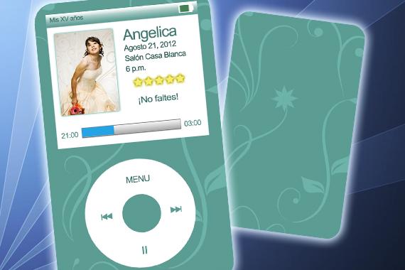 Invitación XV años iPod (.