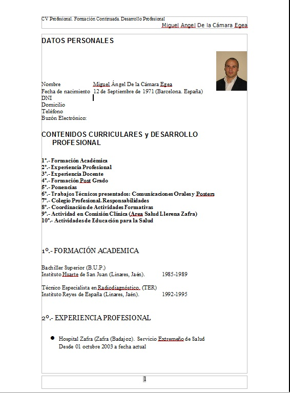 tecnicos radiologos - Como Hacer Un Resume Para Trabajo