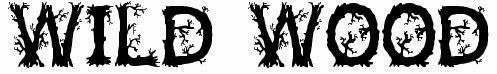 Wild Wood Free Halloween Font