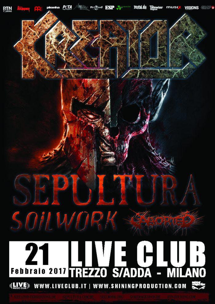 Kreator + Sepultura et al. - Trezzo 21.02.2017