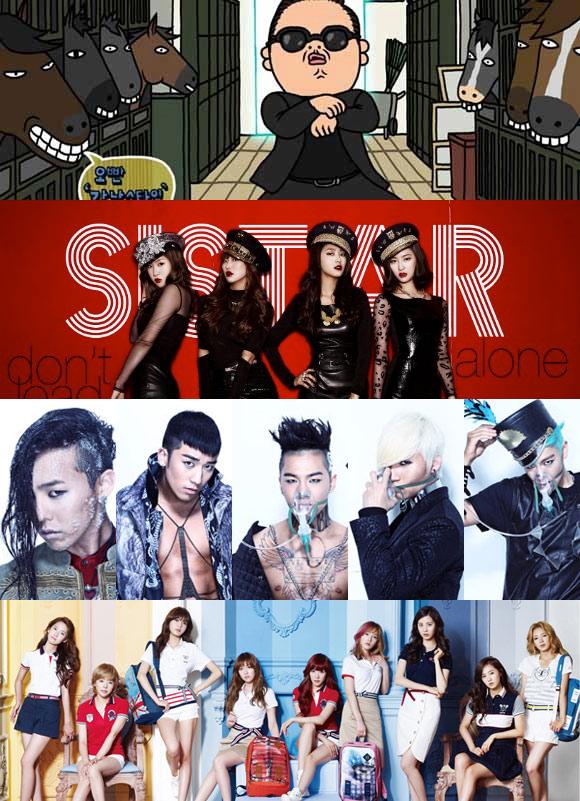 Korea Gallup Artis K-Pop Terpopuler Tahun 2012