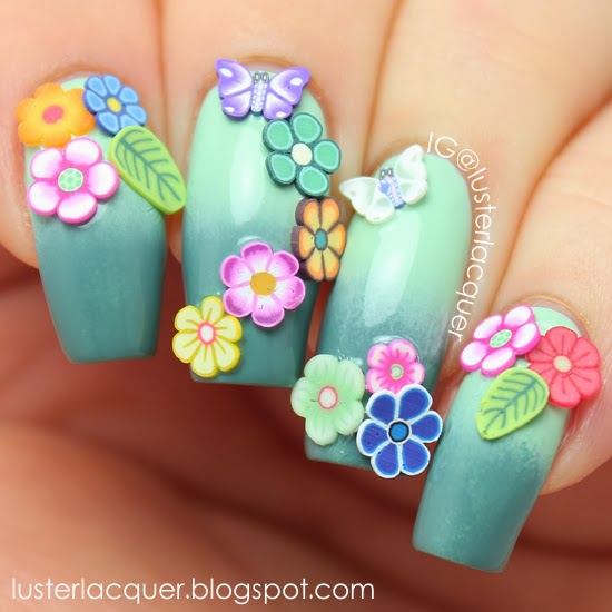 Luster Lacquer Fimo Nail Art