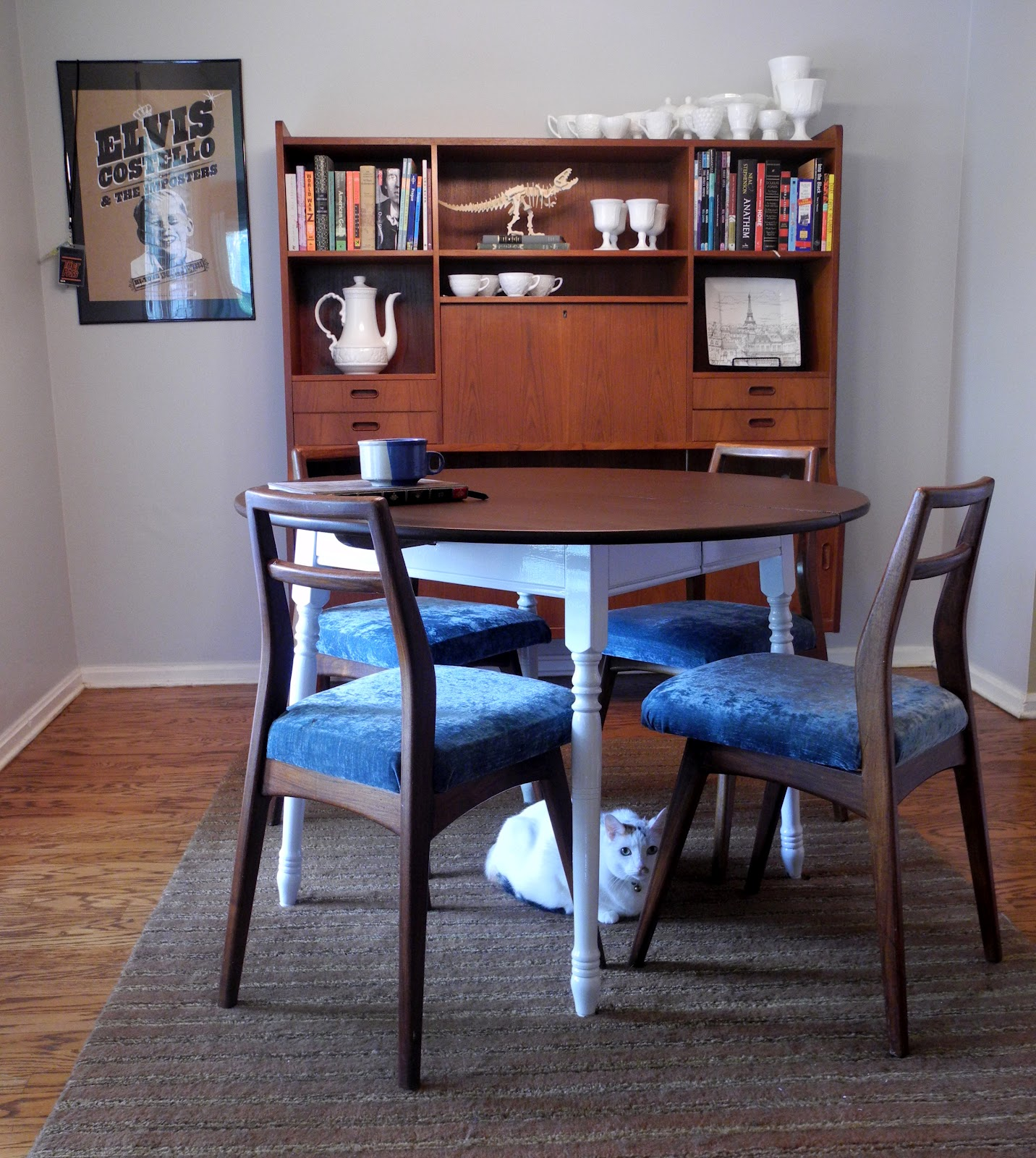 Librarian tells all kitchen table makeover stripping and refinishing wood furniture or why - Kitchen table redo ...