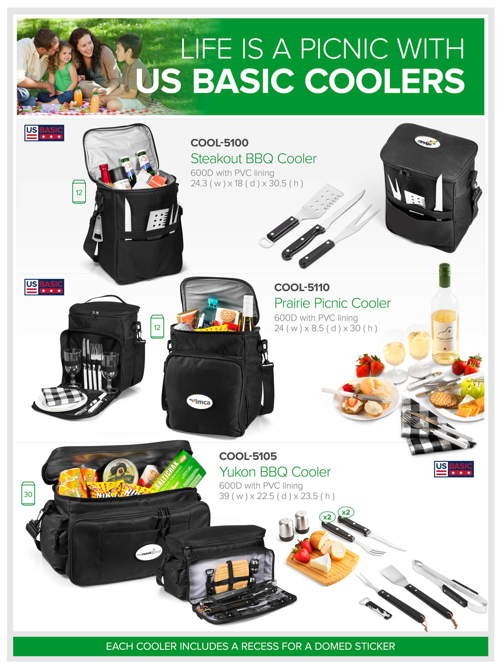 US Basic Cooler Bags